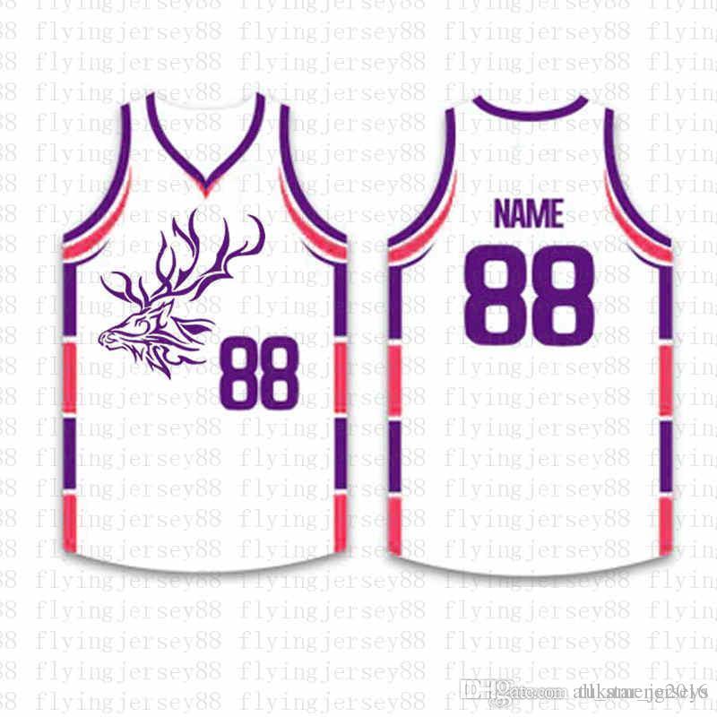 قمة كرة السلة مخصص الفانيلة رجل التطريز شعارات جيرسي شحن مجاني رخيصة بالجملة أي اسم أي عدد الحجم S-XXL56