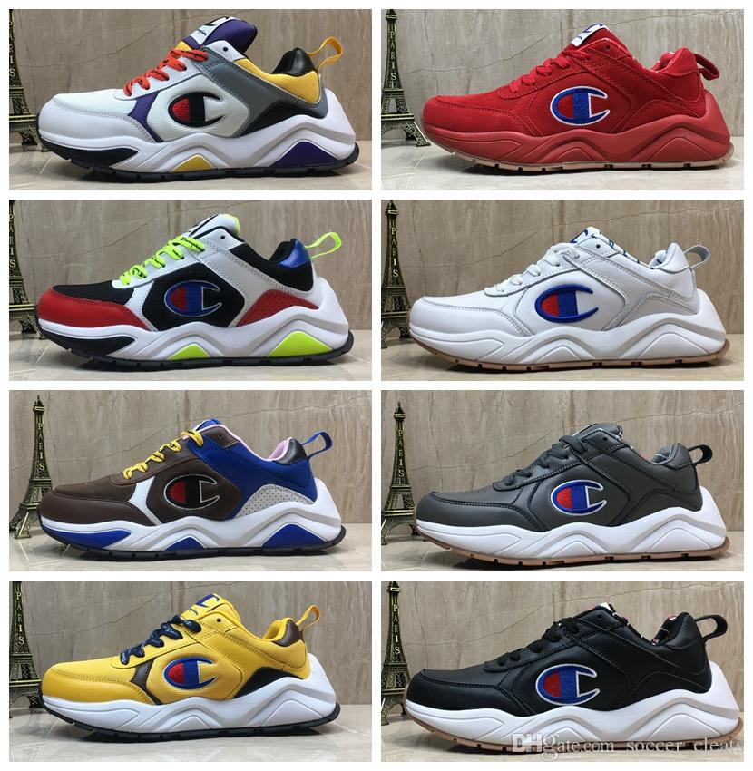 73150218bb69c Designer champion 93Eighteen Suede Leather chenille logo Women Mens Fashion  Sports Sneakers Old Dad Trainers Casual Shoes Chaussures