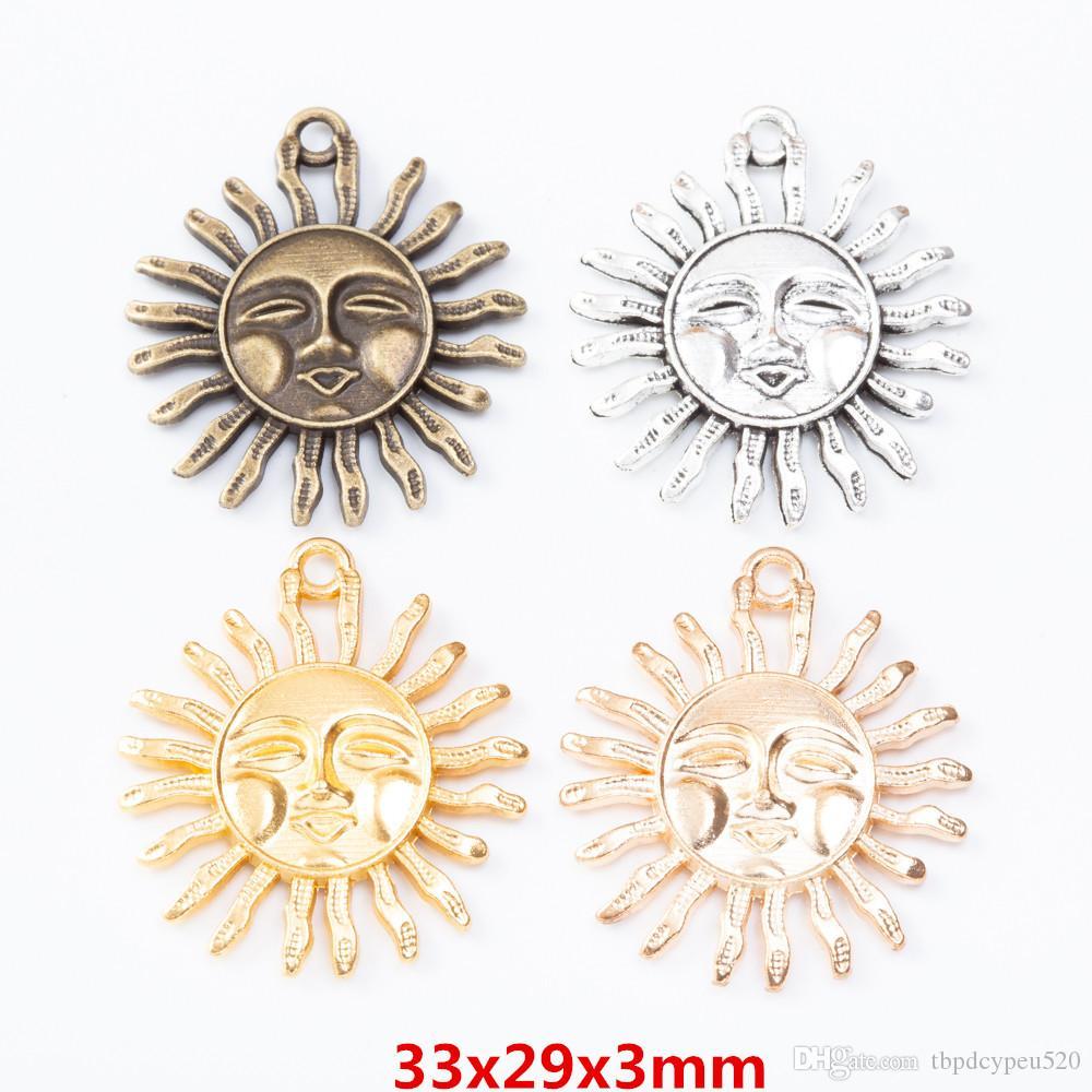 الجملة خمر سحر سبائك الزنك معدن الشمس قلادة ابتسامة لنتائج مجوهرات ديي 7241