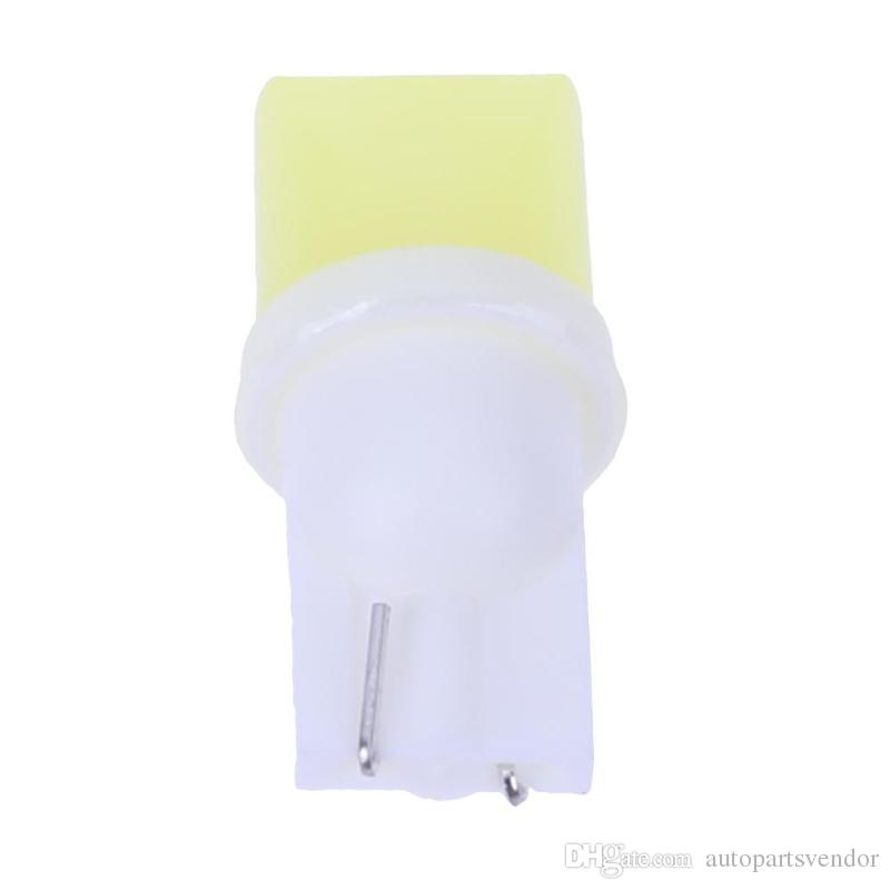100Pcs 12V T10 COB Auto Interior Width/Wedge/Trunk/Reading/Door Light Small Light-emitting Diode Lamp Bulb White Car LED Light