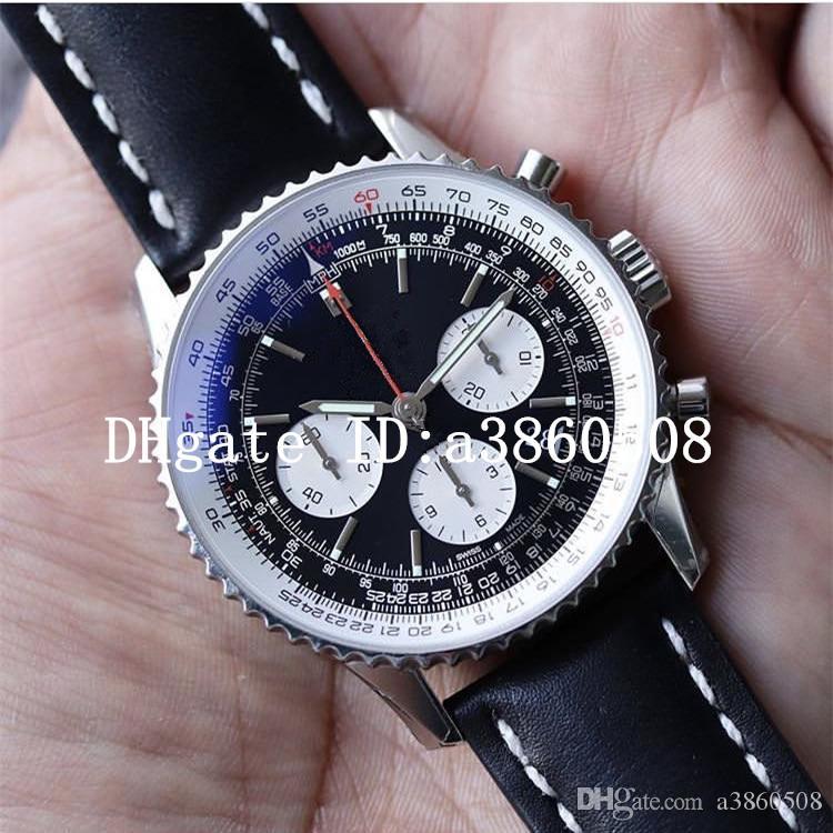 أعلى ووتش navitimer الجلود حزام 3a رجل الساعات عالية الجودة الرياضة japen vk كوارتز كرونوغراف الأزياء ساعة اليد relojes الفقرة hombre u1