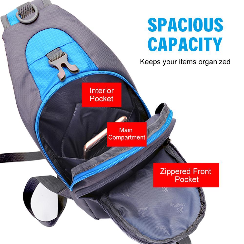 Sling Backpack Peito Crossbody Bagmen Mulheres Shoulder Bag Viagem Esportes Ginásio mochila resistente à água para Camping Caminhadas Viagens