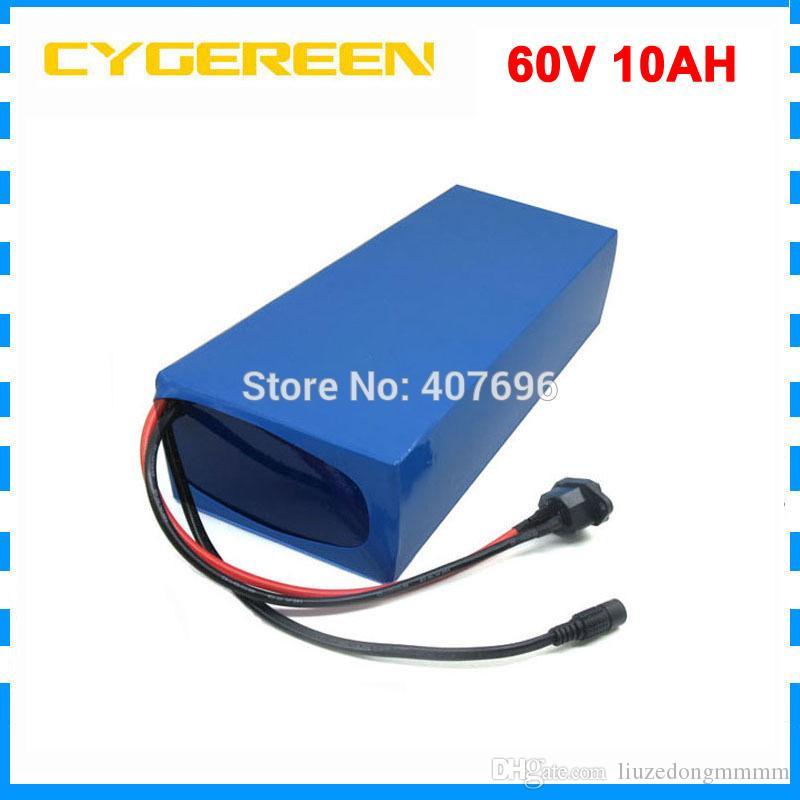 2A Şarj 60 V Lityum batarya 60V 10Ah 750W 60V elektrikli bisiklet pil 60V 10Ah pil 15A BMS