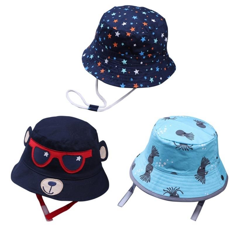 New Fashion Toddler Kids Baby Boys Girls Bucket Hats Sun Helmet Cap Soft Comfortable Spring Summer Autumn Accessory