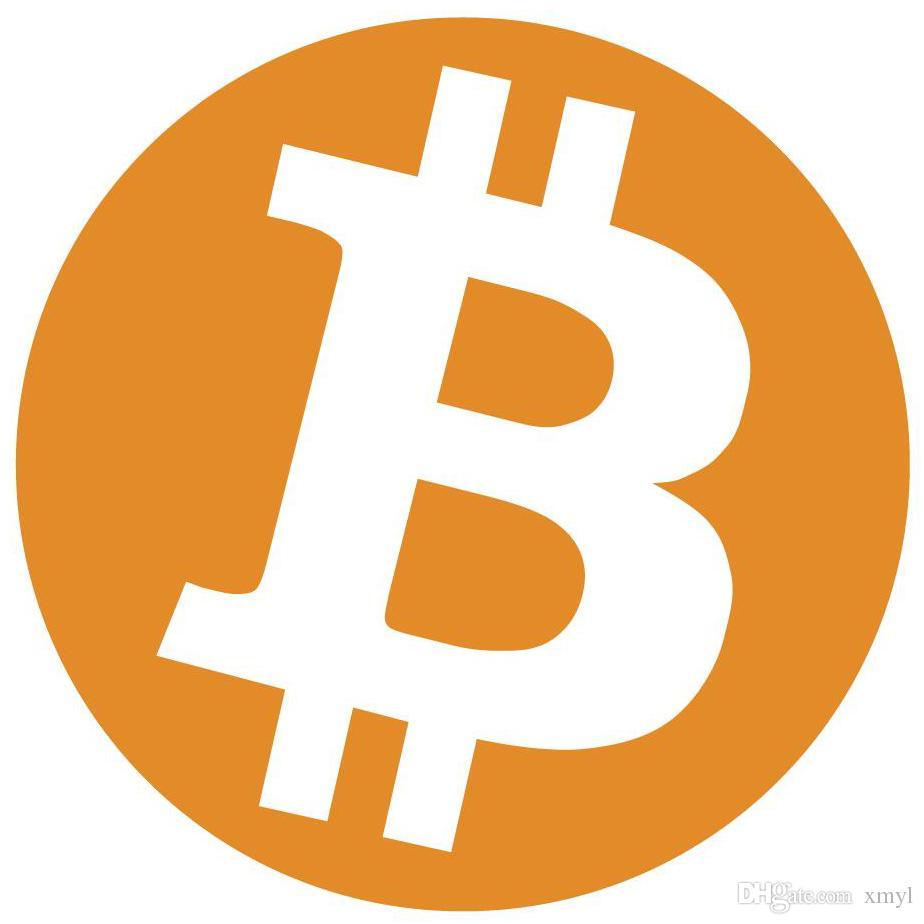 Стикер ярлыка логотипа биткоин диаметра 500пкс 30мм, оранжевое печатание цвета на бумаге лоска, детале нет.FS03