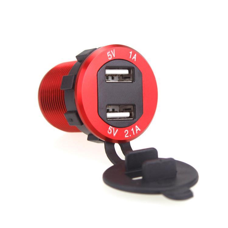 USB lega di alluminio con nuova voltmetro display caricatore del telefono mobile RV Nanny automobile modificata Moto Caricabatteria da auto