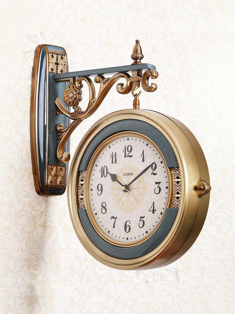 Orologio da parete europea doppio fronte Muto Soggiorno grande e moderno creativo doppio fronte dell'orologio della decorazione della casa DD70WC