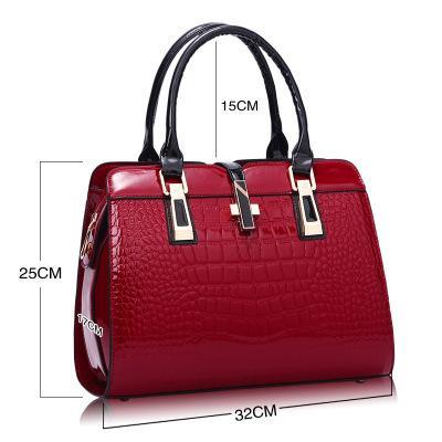 2020 novo padrão de crocodilo saco das mulheres de meia-idade saco da forma bolsa de ombro único saco do mensageiro da senhora