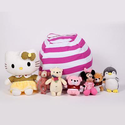 Kinder weiche Baumwolle Aufbewahrungstasche Kinder große Plüschtier Aufbewahrungstasche robuste Mehrzweck Sofa Leinwand Sitzsack EEAA459