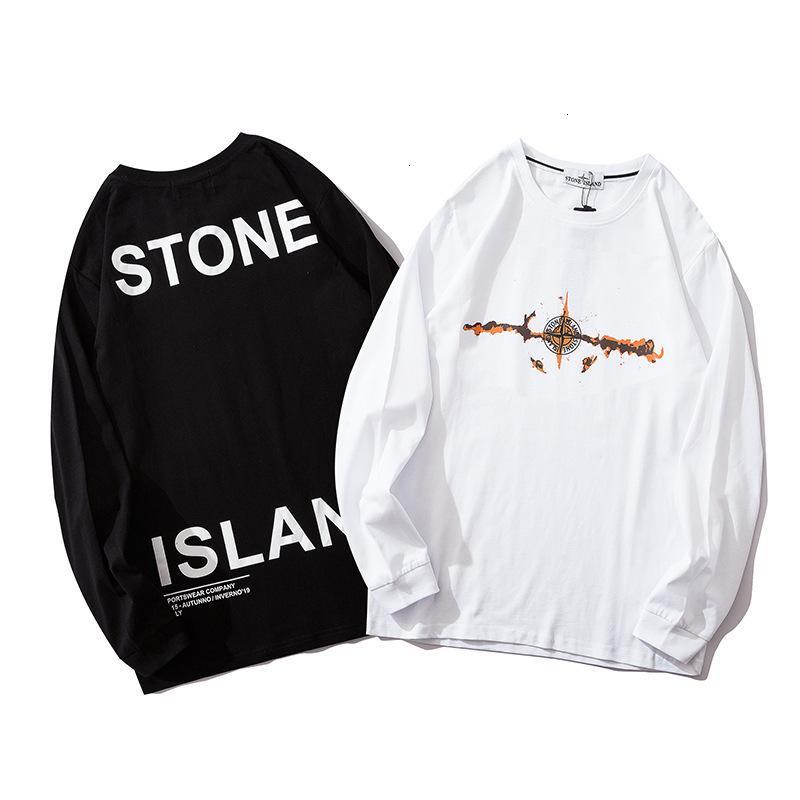 2020 hombres de alta calidad de manga corta de la moda de verano la camiseta cómoda alrededor del cuello de la camiseta ropa de moda casual OFQ2QPMM 1SSY