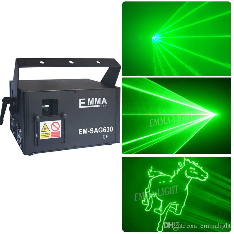 المبيعات الساخنة 3 واط ليزر أخضر 3d الرسوم المتحركة الماسح الضوئي ضوئي ILDA DMX ضوء المرحلة إضاءة DJ نادي الرقص إظهار ديسكو حزب الخفيفة