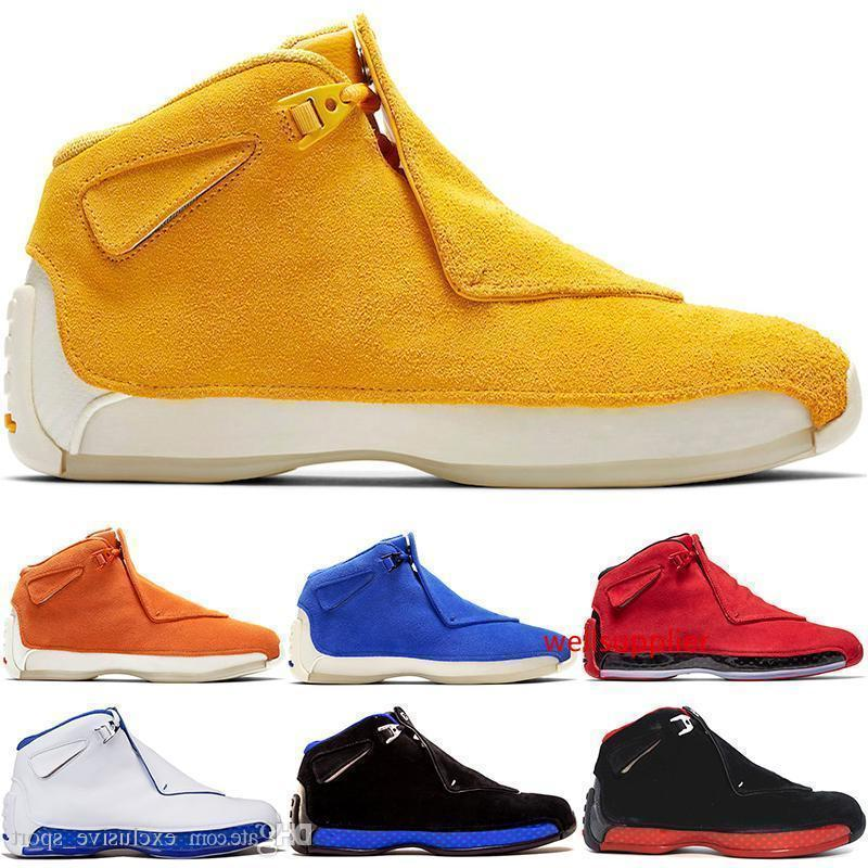 18 Men 18s Basketball Shoes Toro Red Suede Yellow Orange Blue Royal Cool Grey Og Mens Sport Trainer Athletic Sneakers 8-13 Free Shipping