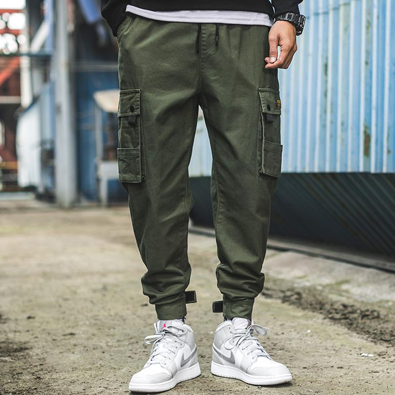 best sneakers cost charm info for 2019 2019 Spring New Men Cargo Pants Casual Polyester Cotton Men Full  Length Drawstring Pockets Black Green Trousers From Flowter, &Price; | ...