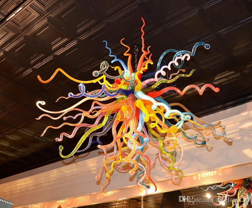 Испанский Pure Подвеска Лампы Чихули Стиль висячие DIY ручной выдувного стекла люстр и подвесов Новый Дом Декор