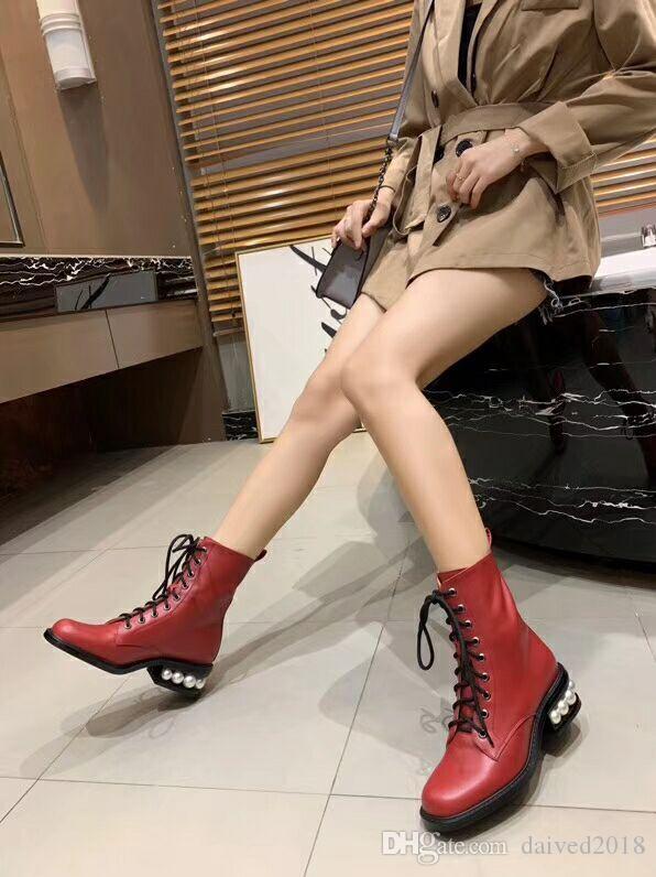 Botas romanas clásicas de estilo europeo para mujer, zapatos de mujer, botas Martin, botas de moto, botas sexy de punta redonda con fondo de goma