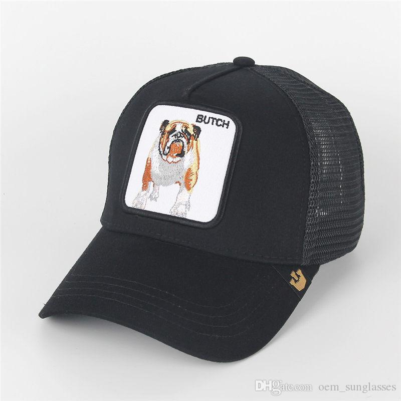 여름 트럭 운전사 모자와 Snapbacks 동물 자수 성인을위한 남성 여성 / 조정 곡선 야구 모자 / 일 바이저