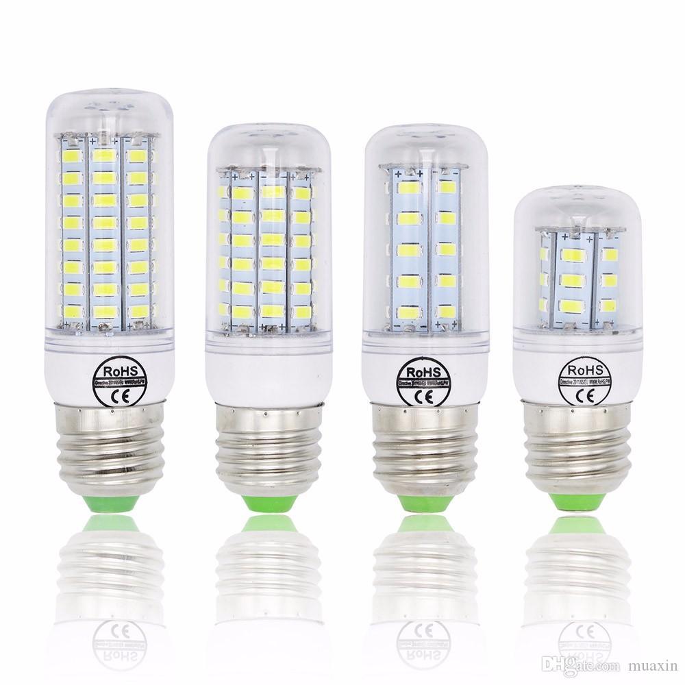 SMD 5730 E27 Lamp LED 5730SMD luzes LED de milho Bulb 24 36 48 56 69 72Leds candelabro da iluminação da vela Decoração 7W 15w 20w