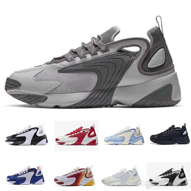 2020 Zoom 2K Dynamic Yellow M2k Tekno Running Shoes Men Women Triple Black White University Red casual outdoor Mens Trainers Sports Sneakers