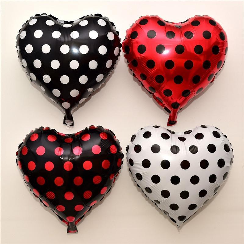 100pcs 18 Inch Black Red White Spot Dot Balloons Cartoon Series Happy Birthday Party Point Baby Toy Decor Globos Ladybug Balloons