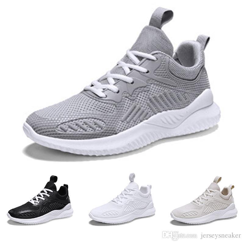 erkekler siyah beyaz gri bej nefes spor ayakkabı boyutu 39-44 ücretsiz kargo koşu ayakkabıları 2020 Sıcak Tüm satış moda üç
