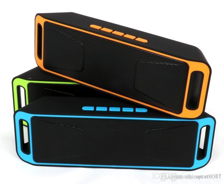 SC208 Mini Taşınabilir Bluetooth Hoparlör 2018 Sıcak Satış Kablosuz Yüksek sesle Müzik Çalar Büyük Güç Subwoofer Destek TF USB FM Radyo