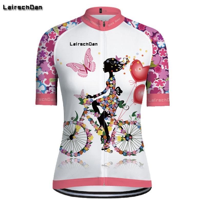 SPTGRVO Lairschdan Rosa Pro Cycling Jersey-Team 2019 Zyklus Bekleidung Sommer Frau Short Set Mtb Fahrrad-Uniforme Fahrrad-Bekleidung Kit