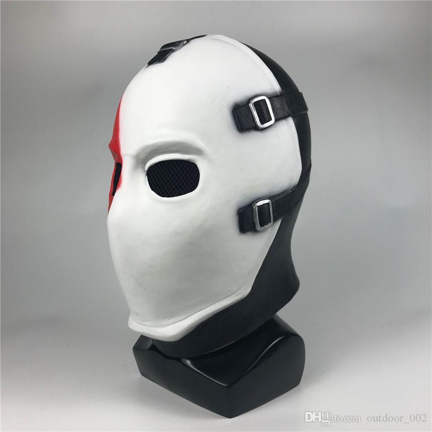 Das Spiel der Schürhakengesichtsmaske-Kopfbedeckung im Freien kleiden oben COSPLAY Stützen-Halloween-Kugelunisexmaterialsicherheit freies Verschiffen an