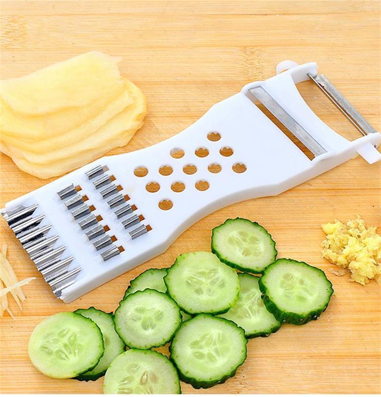 Ferramentas manuais Slicers multi Dispositivo Legumes Fruta pepino Cortador Cenoura Batata Peeler Grater Shredder de cozinha