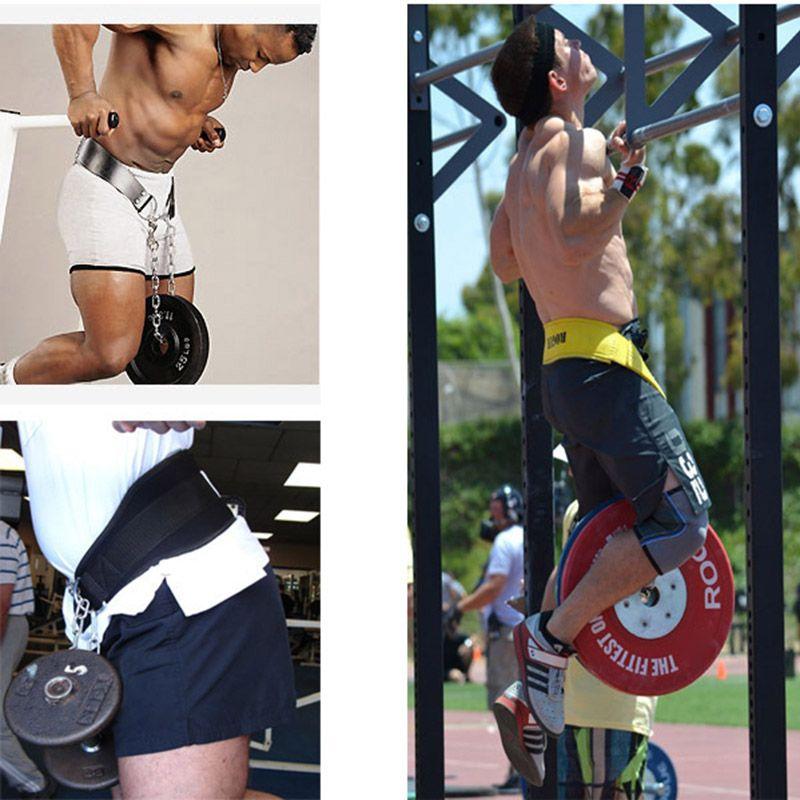 رياضة رفع الأثقال حزام مع سلسلة الحديد رياضة اللياقة البدنية الظهر الخصر دعم حماية أحزمة إصابات الطاقة التدريب ZJ55