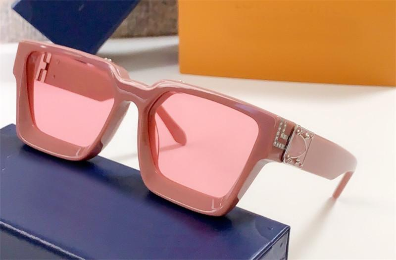 Мужчины солнцезащитные очки дизайнер миллионер площади верхней рамы качество открытый Авангарда горячая распродажа Оптовая продажа стиль очки с футляром 96006