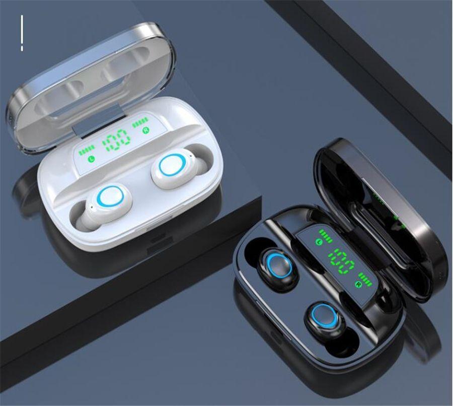 A6S pro sans fil Bluetooth écouteurs sport Oreillettes 5,0 TWS Casques Noise Canceling Mic Mini casque # OU673