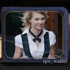 Carteira Tay Taylor Momsen bolsa Barbie Blondie star caso nota curta de dinheiro Dinheiro notecase couro jean burse saco titulares de cartão