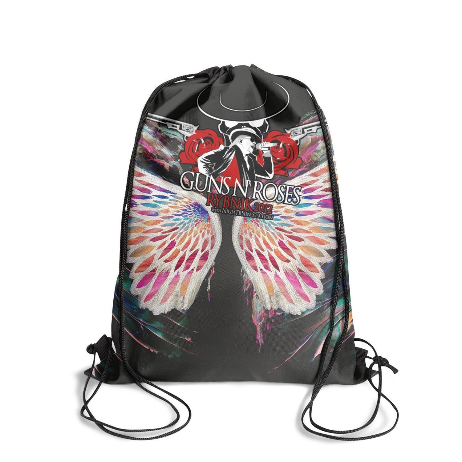 Guns-Sin-Not-in-ThisFashion sports belt backpack, design pop pattern reusable string package, suitable for sports