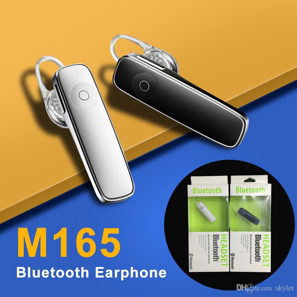 M165 sans fil chaud Casque stéréo Bluetooth écouteurs sans fil Mini mains-libres Bluetooth universel pour téléphone portable avec le paquet détail