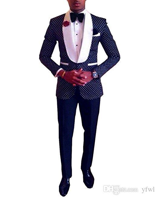 Klassische Schal Revers Smoking Bräutigam Hochzeit Männer Anzüge für Männer Anzüge Hochzeit Smoking Kostüme de Rauchen hommes gießen Männer (Jacket + Pants + Tie) 387