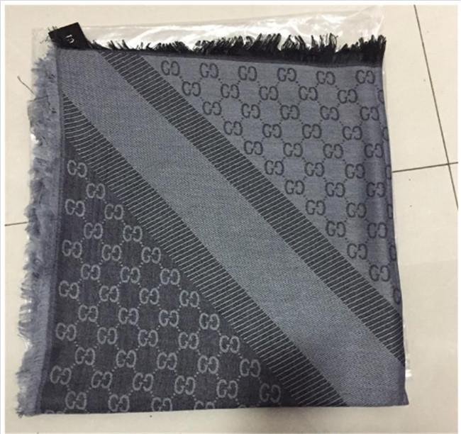 marca de las mujeres de la bufanda de lana del diseñador de moda y mantón señoras bufanda caliente del invierno bufanda suave punto teñido de hilados de algodón sobredimensionado-140 140c *