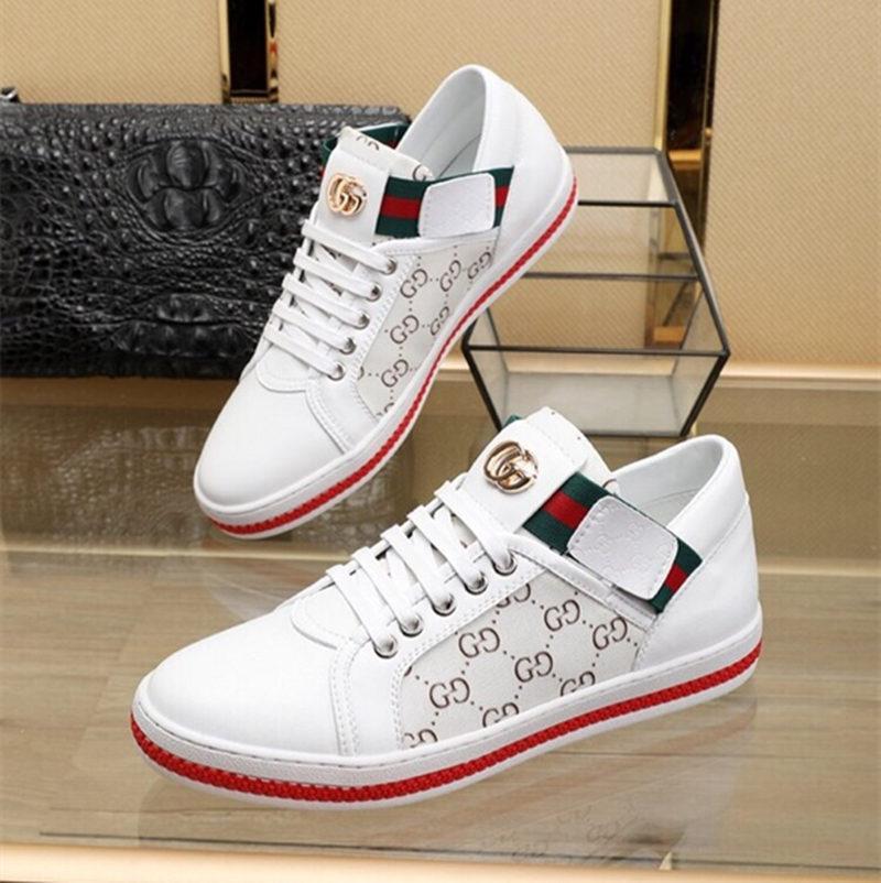 2019 الفاخرة العلامة التجارية الجديدة الأبيض الأحمر أسفل رجل إمرأة المصممين أحذية قليلة قص عارضة شقة في الهواء الطلق Zapatillas قيادة سبور مع صندوق 32