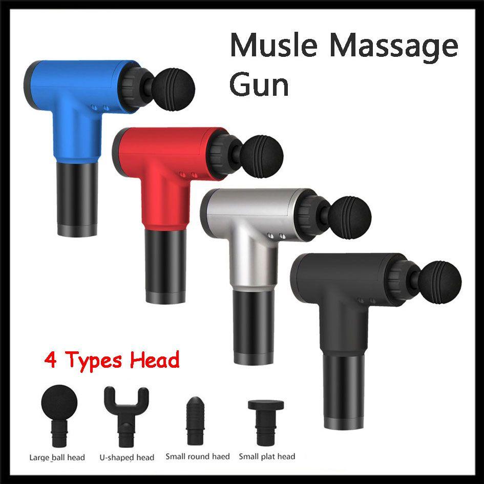 تدليك بندقية لMusle الاسترخاء بطارية 2000mAh مدلك لإغاثة الرقبة الساق الكتف تجريب الوجه دون 4 أنواع اكسسوارات رئيس