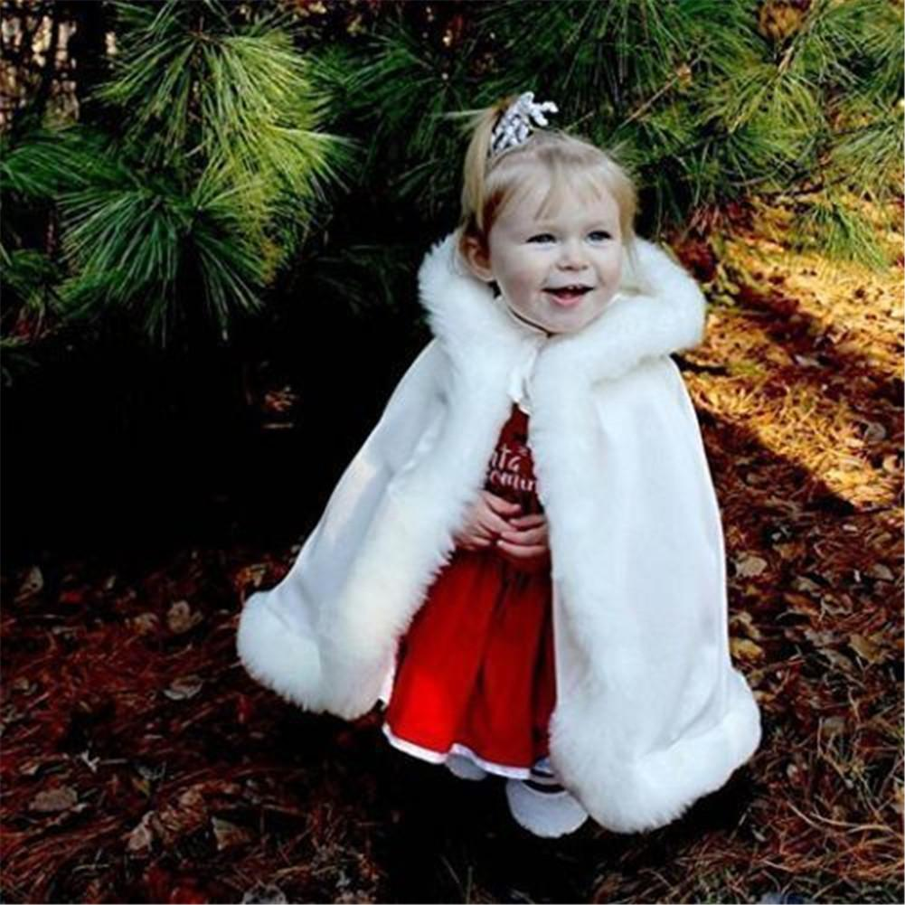 new Flower Girl Cape Winter Wedding Cloak for Infant Junior Bridesmaid Hooded cape