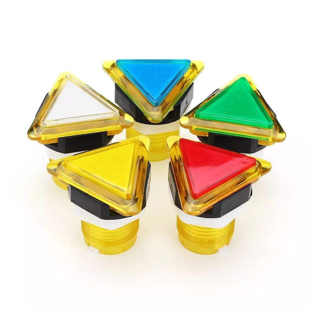 39x39x39 삼각형 방향은 아케이드 게임 콘솔 컨트롤러 DIY를위한 빛 푸시 버튼을 LED - 레드