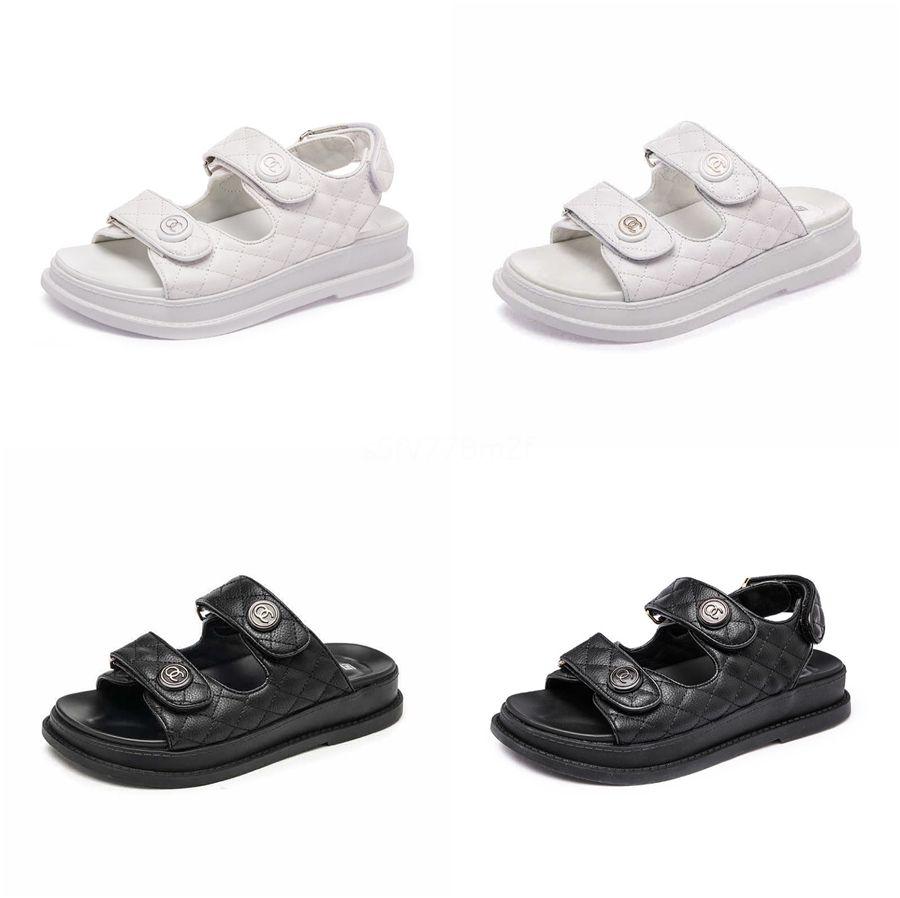 Mulher 2020 de Verão apartamento confortável Sandals Vintage Gancho laço Casual Costura Mulheres Retro Sandálias Plataforma Feminino Sandals # 827