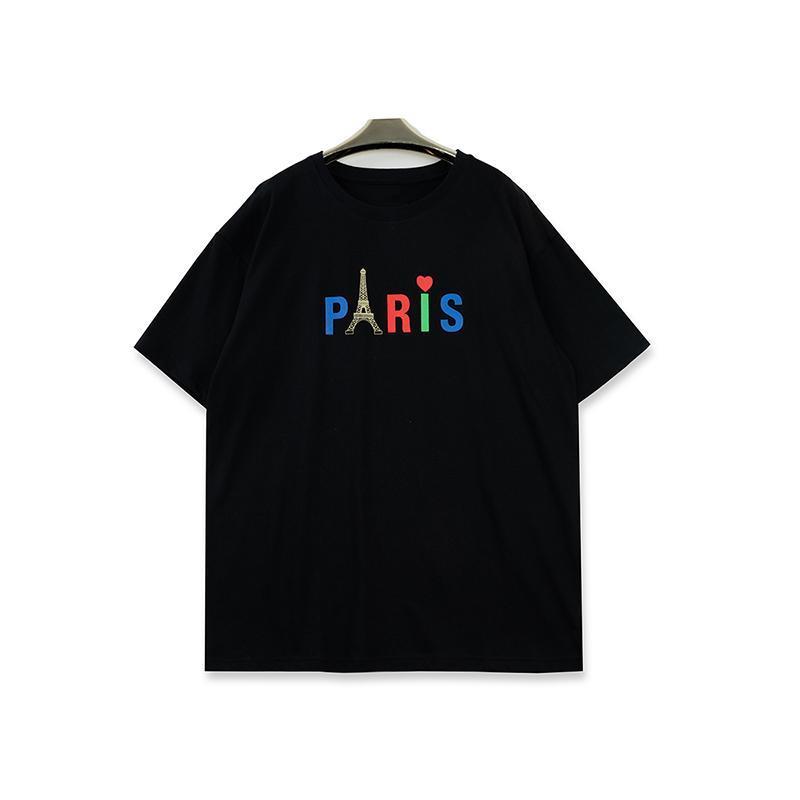 2020 Herren-Stylist-T-Shirts Männer Frauen Paris Drucken mit kurzen Ärmeln Mode Herren T-Shirt Schwarz Weiß