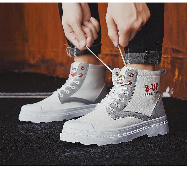 sonbahar ve kış 2020 Vintage yüksek üst Popüler yeni erkek botları Martin moda trendi Botlar Erkek kurt ayakkabı spor ayakkabıları tuvaline