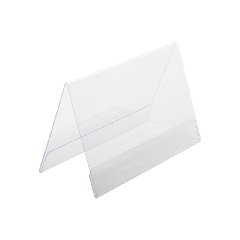 PVC Şeffaf Plastik V şekli İşaret Tutucu A4 A5 A6 A7 Dik Enine Özelleştirilmiş için seçim