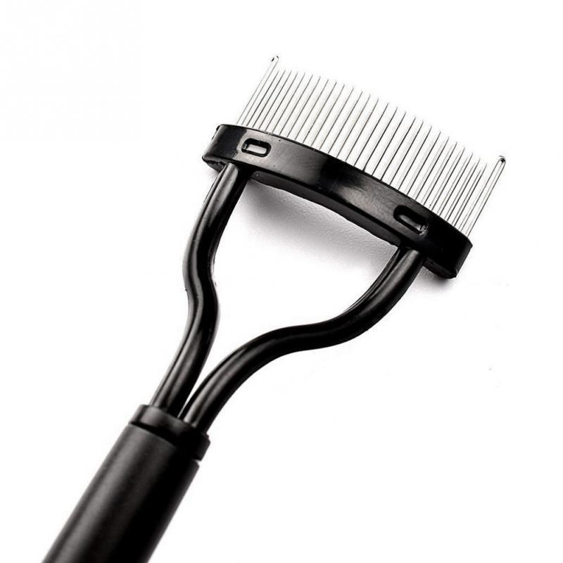 1pc Pro Women's Eyelash Curler Comb Lash Separator Lift Curl Metal Brush Beauty Makeup Tool