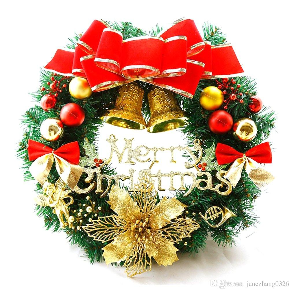 Christmas Door Wreath Wall Hang Pine Cute Ornaments Decor Xmas Tree Garlands New