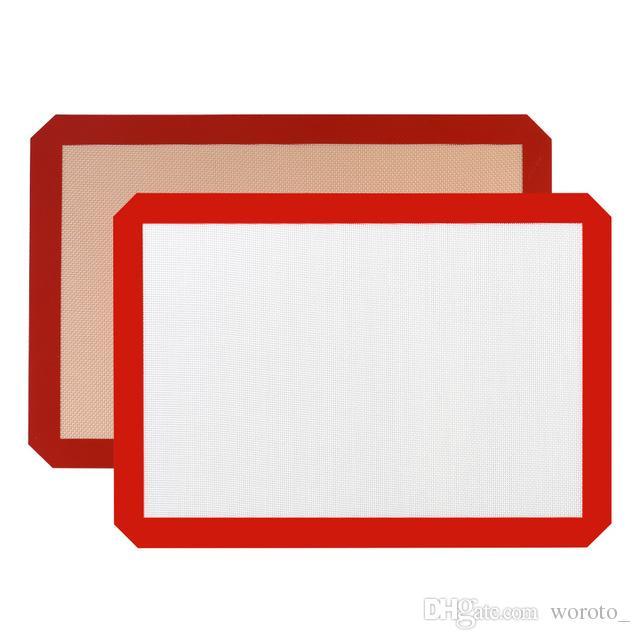 Tapis de cuisson en fibre de verre de silicone antiadhésifs de qualité alimentaire Tapis de cuisson en silicone pour tapis de cuisson en silicone de 30 cm x 21 cm