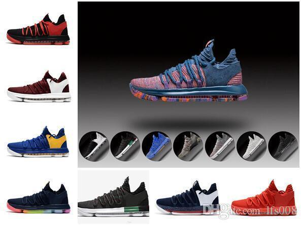 best loved d0dfe c844e Zoom Kevin Durant KD 10 Elite KDX Opening Night Peach Jam PK80 Red Velvet  Triple Black Wolf Gray Men Basketball Shoes Wholesale Sneakers Munro Shoes  ...