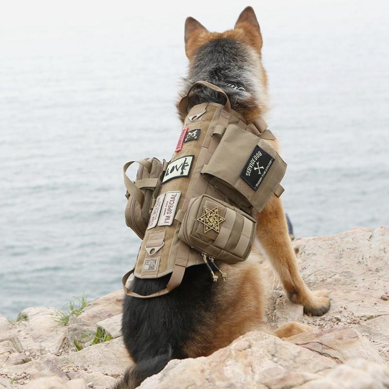 Tactical Outdoor Military Dog Clothes Load Bearing Training Vest Harness *i