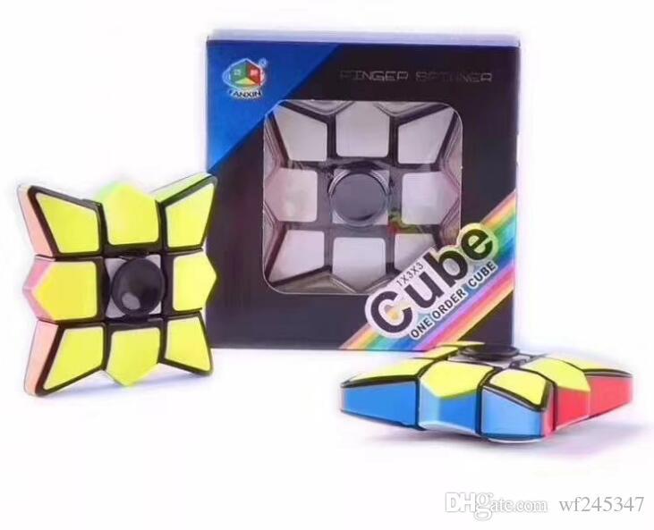 gyroscope pour enfants aux enfants Fingertips adultes cube magique décompression couleur jouets éducatifs illimité jouet gyroscopique de bureau